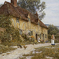 Old Kentish Cottage by Helen Allingham