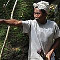 Old Man In Bali by Kamel Rekouane