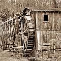 Old Mill In Sepia by Douglas Barnett