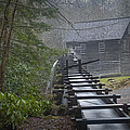 Old Mill In The Smokey Mountains by Randall Nyhof