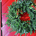 Old Mill Of Guilford Door Wreath by Sandi OReilly
