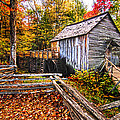 old mill Smoky Mountains by Randall Branham