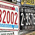 Old Nebraska Plates by Pam  Holdsworth