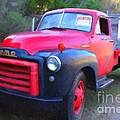 Old Nostalgic American Gmc Flatbed Truck . 7d9821 . Photo Art by Wingsdomain Art and Photography