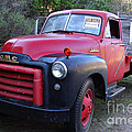 Old Nostalgic American Gmc Flatbed Truck . 7d9821 by Wingsdomain Art and Photography