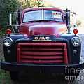 Old Nostalgic American Gmc Flatbed Truck . 7d9823 by Wingsdomain Art and Photography