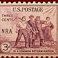 Old Nra Postage Stamp by James Hill