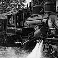 Old Number Three_climax Locomotive_durbin Wv _bw by Kathleen K Parker