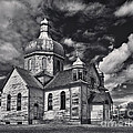 Old Prairie Church And Storm Front by Royce Howland