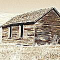 Old Ranch Hand Cabin L by Kathy Sampson
