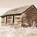 Old Ranch Hand Cabin Ll by Kathy Sampson