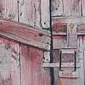 Old Red Barn Door by Walt Maes