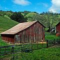 Old Red Barn by Kathy Yates