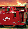 Old Red Caboose 500 by Gary Baird