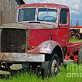 Old Rusted Semi-truck  by Randy Harris