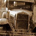 Old Rustic Ford-sepia by Randy Harris