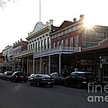 Old Sacramento California In Partial Silhouette . 7d11716 by Wingsdomain Art and Photography