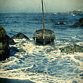 Old Sailing Vessel Near The Rocky Shore by Jill Battaglia