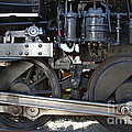 Old Steam Locomotive Engine 1258 . Wheels . 7d13000 by Wingsdomain Art and Photography