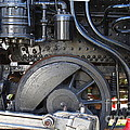 Old Steam Locomotive Engine 1258 . Wheels . 7d13001 by Wingsdomain Art and Photography