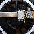 Old Steam Locomotive Engine 5 . The Little Buttercup . Train Wheel . 7d12916 by Wingsdomain Art and Photography