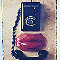 Old Telephone And Red Lips by Garry Gay