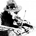 Old Time Fiddle Player No.560 by Randall Nyhof