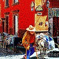Old Timer With His Burros On Umaran Street by John  Kolenberg