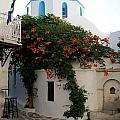 Old Town Church Paros by Lorraine Devon Wilke