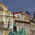 Old Town Square In Prague by Christine Till