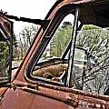 Old Truck Mirror by Susan Leggett