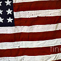 Old Usa Flag by Carlos Caetano