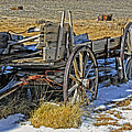 Old Wagon At Bodie Ghost Town by Dave Mills