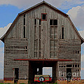 Old Wagon Older Barn Panoramic Stitch by Alan Look