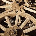 Old Wagon Wheels by Steve McKinzie