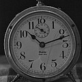 Old Westclock In Black And White by Rob Hans