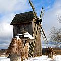 Old Wooden Windmill by Marta Holka
