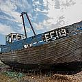 Old Wrecked Fishing Boat by Dawn OConnor