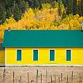 Old Yellow School House With Autumn Colors by James BO Insogna