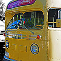 Old Yellow Transit Bus Abstract by Randy Harris
