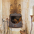Olde Worlde Fireplace In A Cave  by Kantilal Patel