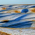 Oldman River Valley In Winter by Mike Grandmailson