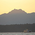 Olympic Mountain Sunset On Puget Sound by Michael Merry