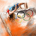 Olympics High Jump Gold Medal Ivan Ukhov by Miki De Goodaboom