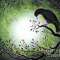 Ominous Bird In Somber Tones by Laura Iverson
