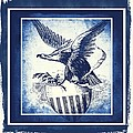On Eagles Wings Blue by Angelina Vick