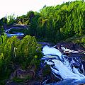 Onaping Falls Abstract by Bruce Ritchie