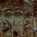 One Direction Faces Mosaic by Paul Van Scott