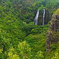 Opaekaa Falls by Kenneth Sponsler