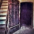 Open Door By Staircase by Jill Battaglia